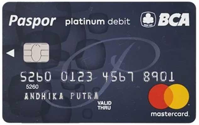 Kartu ATM Paspor BCA Platinum