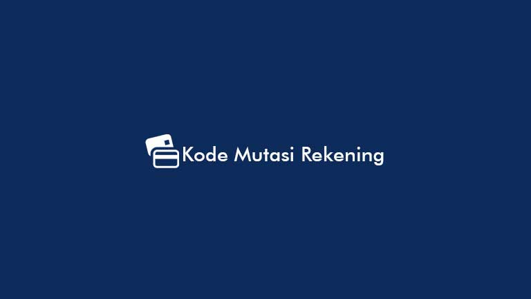 Kode Mutasi Rekening