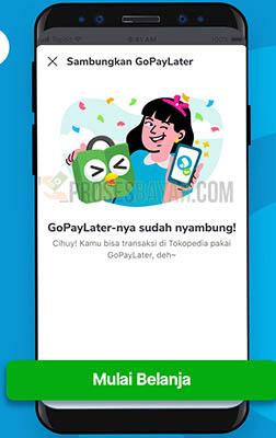 Pembayaran Tokopedia Pakai GoPayLater