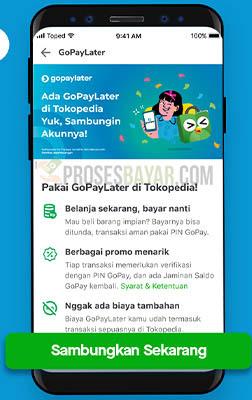 Sambungin GoPayLater Tokopedia