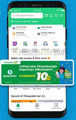 Sambungin GoPayLater dari Halaman Tokopedia