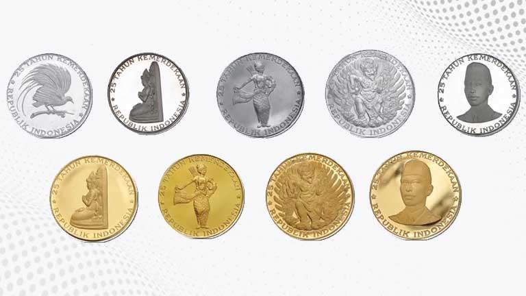 Uang Rupiah Khusus Seri 25 Tahun Kemerdekaan Republik Indonesia