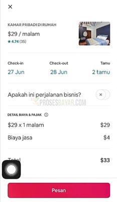 cara pesan Airbnb