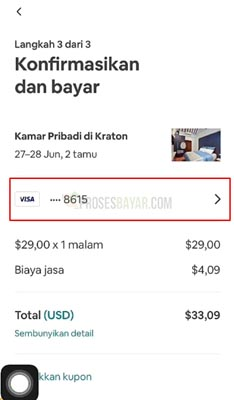 metode pembayaran Airbnb