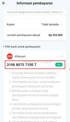 nomor virtual account easy cash